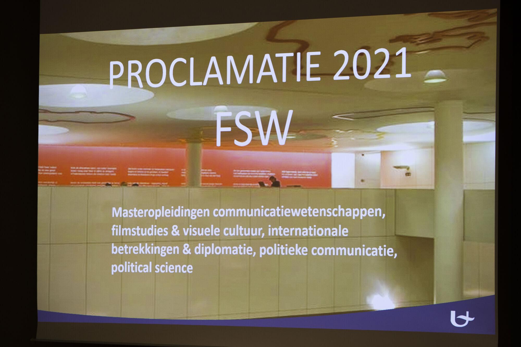 Proclamatie Faculteit Sociale Wetenschappen 2021 (deel 2)